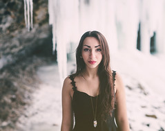 (courtneymichaud) Tags: winter portrait snow canada ice girl beautiful beauty face model niagara falls icicles winterscape decew decewfalls