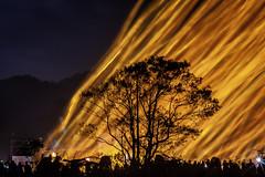 pingxi_lantern-0613-lq (mingshah) Tags: longexposure sky tree night roc fire asia taiwan taipei contrasts shifen pingxi supershot skylanterns newtaipei xinbeicity