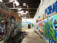 Abandoned place (Marcosnr92) Tags: old abandoned architecture underground landscape graffiti spain place cloudy horizon retro colourfull