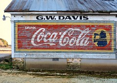 The Old G.W. Davis Store and Coke Sign:  Arcola, Warren County, North Carolina (EdgecombePlanter) Tags: light sunlight sign nc shadows south northcarolina coke southern cocacola oldsign rurallandscape oldcocacolasign