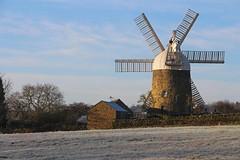 Frosty Morning, Heage Windmill, Derbyshire (Geraldine Curtis) Tags: frost derbyshire sails six heage heagewindmill