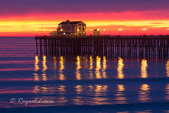 Oceanside Pier at sunset (rlonas) Tags: ocean california water coast pier oceanside img5825