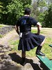 Black Heavy Cotton Custom Kilt