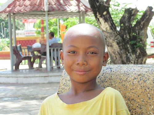 Moment avec les enfants du temple, Kratie, Cambodge
