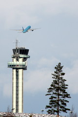 Tower and Korean, OSL ENGM Gardermoen (Inger Bjrndal Foss) Tags: tower norway airport korean 777 osl gardermoen engm