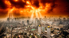 edt-401 (Santo(Thanks for 1.5 Million++views!!)) Tags: city morning winter building skyline architecture clouds sunrise landscape asia bangkok rays