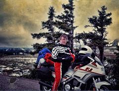 Sy_FJ_93 (Sy_In_Indy) Tags: camping montana motorcycletouring pentaxspotmatic colorizedphoto supertakumar50mmf14 yamahafj1200