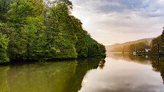 River Dart at 6am (ianladd) Tags: morning misty canon river landscape eos dawn may devon 24mm dart efs 450d