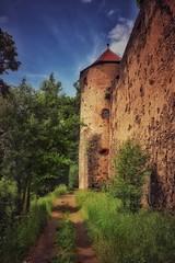 Ronneburg... (hobbit68) Tags: old sunset sky clouds canon outdoor alt sommer fenster himmel wolken haus ruine turm sonne wald bltter baum gebude burg sonnenschein verfallen