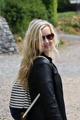 (jendagram) Tags: sun girl smile sunglasses hair outside spring model girlfriend sunny backpack blonde sack caption