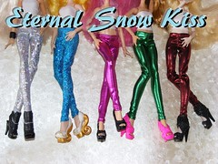 How to make Leggings for dolls ( eternal-snow ) Tags: monster high doll sewing clothes after ever leggings