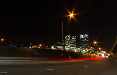 Roads of London (11 of 18) (johnlinford) Tags: city longexposure england urban london night landscape lights poplar unitedkingdom 7d gb docklands canonefs1022 canoneos7d