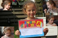 Happy (Elly Snel) Tags: smile swimming diploma grandchild tess glimlach zwemmen kleinkind ansh scavenger15
