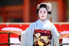 Odori dance festival in Kyoto (Teruhide Tomori) Tags: portrait festival japan lady dance kyoto stage performance event maiko   kimono tradition japon       heianjingushrine