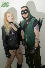 IMG_0658 (Neil Keogh Photography) Tags: black male green female comics dc pants mask boots top jacket gloves hero blonde hood canary cosplayer dccomics armour leatherjacket blackcanary leotard jumpsuit merc fishnetstockings mercenary greenarrow bowarrow leathergloves leatherboots salfordcomiccon2016