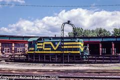 231, St. Albans, VT, 6-1980 (Rkap10) Tags: railroad other vermont places albums locomotives s4 centralvermont railroadslidescans