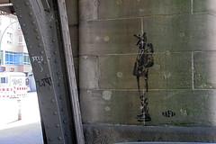 Blowstrae (unterwegs_in_berlin) Tags: berlin streetart stencil sprhschablonen schneberg urbannationmuseumforurbancontemporaryart ubahn nafir