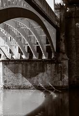 Bridges of Castlefield 5 (Leopold Green) Tags: manchester bridges castlefield railwaybridge manchestershipcanal