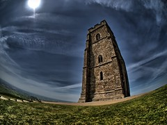 The Curved Glastonbury Tor (RS400) Tags: uk blue england sky west building grass buildings wow amazing cool south glastonbury somerset tor hdr edit