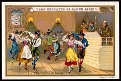 Liebig Tradecard S620 - National Dances, Tirol (cigcardpix) Tags: tradecards advertising ephemera vintage liebig chromo dancing