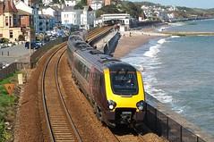 Give us a Wave! (crashcalloway) Tags: train coast railway seawall crosscountry devon voyager seafront dawlish
