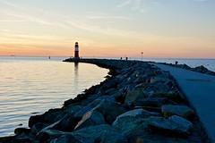 Sunset (Jualbo) Tags: sunset sea lighthouse beach water strand river coast warnemnde wasser sonnenuntergang sundown sommer north norden may baltic east steine mai northern fluss sonne osten ostsee rostock leuchtturm vorpommern frhling mecklenburg norddeutschland 2016 warnow ostmole