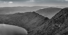 Striding Edge, Helvellyn. (cajsparky) Tags: park red white lake black landscape nikon district wainwright national edge cumbria tarn fell helvellyn glenridding d610 striding swirral
