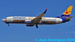 D-ASXP - SunExpress Germany - Boeing 737-8HX(WL) (Juan Rodriguez - PMI/LEPA) Tags: plane airplane nikon aircraft sigma boeing mallorca palma aeropuerto 70200mm b737 d90 sonsanjuan sonsantjoan sunexpressgermany dasxp pmilepa