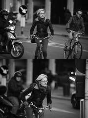 [La Mia Citt][Pedala] (Urca) Tags: portrait blackandwhite bw bike bicycle italia milano bn ciclista biancoenero mir bicicletta 2016 pedalare dittico 85536 nikondigitale ritrattostradale