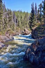 Freedom in the wilderness . . (JLS Photography - Alaska) Tags: trees canada tree water rock creek forest river landscape waterfall outdoor canyon yukon wilderness rockformation yukonterritory jlsphotographyalaska