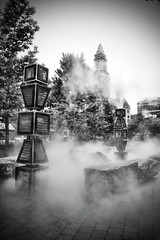 Steam (Silverio Photography) Tags: street city urban blackandwhite house monochrome boston photoshop canon photography newengland sigma elements custom 1770 hdr northend topaz adjust massachuetts 60d