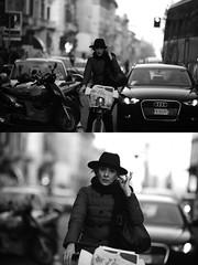 [La Mia Citt][Pedala] con il BikeMi (Urca) Tags: portrait blackandwhite bw bike bicycle italia milano bn ciclista biancoenero bicicletta 2016 pedalare dittico 85575 bikesharing bikemi ritrattostradale nikondigitalemir