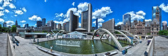 Totonto, Canada. Nathan Phillips Square | June 2016 (Temphotto) Tags: panorama toronto canada fountain skyline photoshop square high nikon dynamic nathan outdoor phillips adobe range hdr d40 cs5