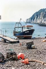 Intrepid, E145, Beer, Devon, 1992 (Richard G. Hilsden) Tags: uk england cornwall britain g devon 1992 hilsden richardghilsden