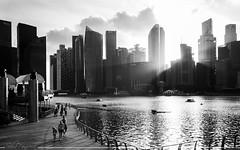 Esa luz lejana (Sebas Fonseca) Tags: world street travel sunset urban white black sunshine nikon singapore asia bnw d7000 sebafonseca