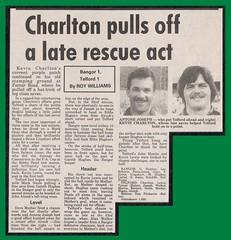 BANGOR CITY 1 TELFORD UNITED 1 [1982-83] APL (bullfield) Tags: england wales shropshire cymru bangor wellington telfordunited bangorcity farrarroad