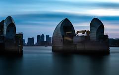 Thames barrier (explored) (strupert) Tags: bigstopper canarywharf docklands uk bluehour nikon lee longexposure sunset barriers thames london