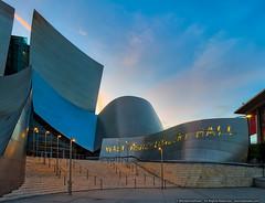 Gehry's Walt Disney Concert Hall (mhoffman1) Tags: waltdisneyconcerthall laphil aurorahdr ca california frankgehry hdr la losangelesphilharmonic losangels sonyalpha wdch a7r architecture dusk entrance losangeles unitedstates us