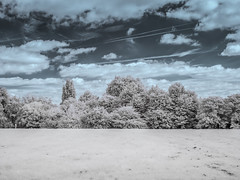 Hilly Fields Park (blackwoodse6) Tags: park blue trees sky white clouds canon ir outdoor lewisham infrared foilage southlondon brockley southeastlondon londonparks hillyfieldspark se13 720nm se4 canong10