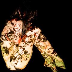 Wearing Pollock #2 (Ten Zielony) Tags: girl painting studio naked nude akt projector body indoor jackson projection bodypainting pollock mapping annamaria projektor rzutnik
