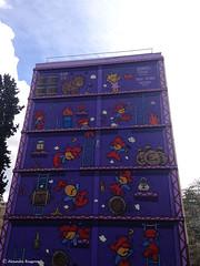 mur violet jeux sympa© (alexandrarougeron) Tags: immeuble tag color couleur extérieur façade mur ville urbain france paris art artiste rue mario jeux vidéo violet classique échelle jeune nostagie ado adulte agréable
