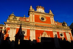 Church and shadow (BenoitDemers) Tags: ancient architecture art background bell building cathedral christ christian church city column dark decorative europe european exterior facade graphic historic historical landmark landscape light monumental old perspective religion scale scene sevilla seville shadow sky spain stone tower town urban