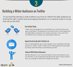 Building your audience on Twitter (Social Media & Content Curation Platform) Tags: marketing media internet content social monitor guide analytics infograph twitter drumup