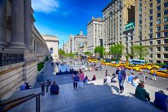 New York City view from the Met (` Toshio ') Tags: city newyorkcity people usa newyork museum architecture america buildings us steps midtown met metropolitanmuseumofart toshio xe2 fujixe2