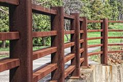 Rusty Fence...Explored 6/11/2016 (LotusMoon Photography) Tags: bridge fence iron rusty arboretum weathered mortonarboretum hff lakemarmo fencefriday happyfencefriday annasheradon