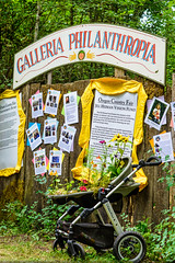 Philanthropy area (Michael Holden) Tags: festival hippies oregon eugene event ocf oregoncountryfair counterculture veneta oregoncountyfair ocf2016 oregoncountryfair2016