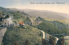 OLD POSTCARDS - MIKULOV 7 (beranekp) Tags: old history czech alt postcard eisenbahn railway erzgebirge moldau ansichtskarte hory moldava mikulov krun eleznice pohlednice niklasberg