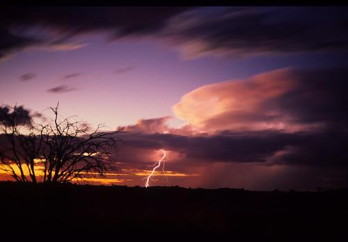 Ligtning over Kalahari