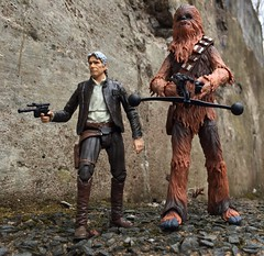Han and Chewie (chevy2who) Tags: 6 black toy star starwars inch force action solo figure series wars six han chewbacca awakens blackseries