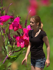 Beautiful Days Of Youth (swong95765) Tags: flowers cute girl youth kid bokeh memories shorts